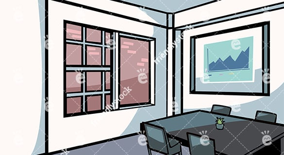 Meeting And Conference Room Vector Background