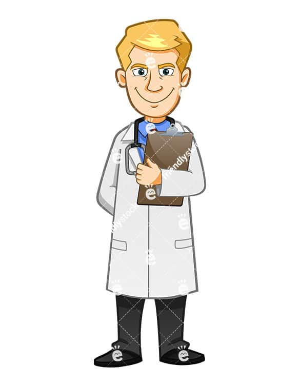 Scary Doctor With An Evil Smile Holding Clipboard Friendlystockcom