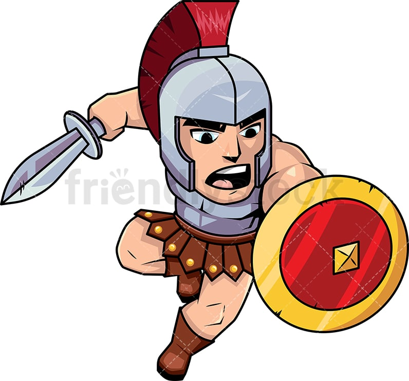 roman soldier attacking with sword vector cartoon clipart rh friendlystock com  ancient roman soldier clipart
