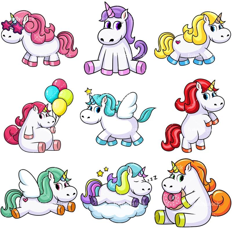 cute unicorn cartoon - 800×800