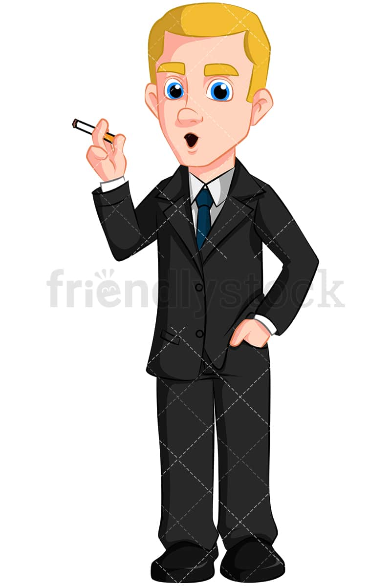 Cartoon person smoking cigarette where to buy electronic cigarette starter kit