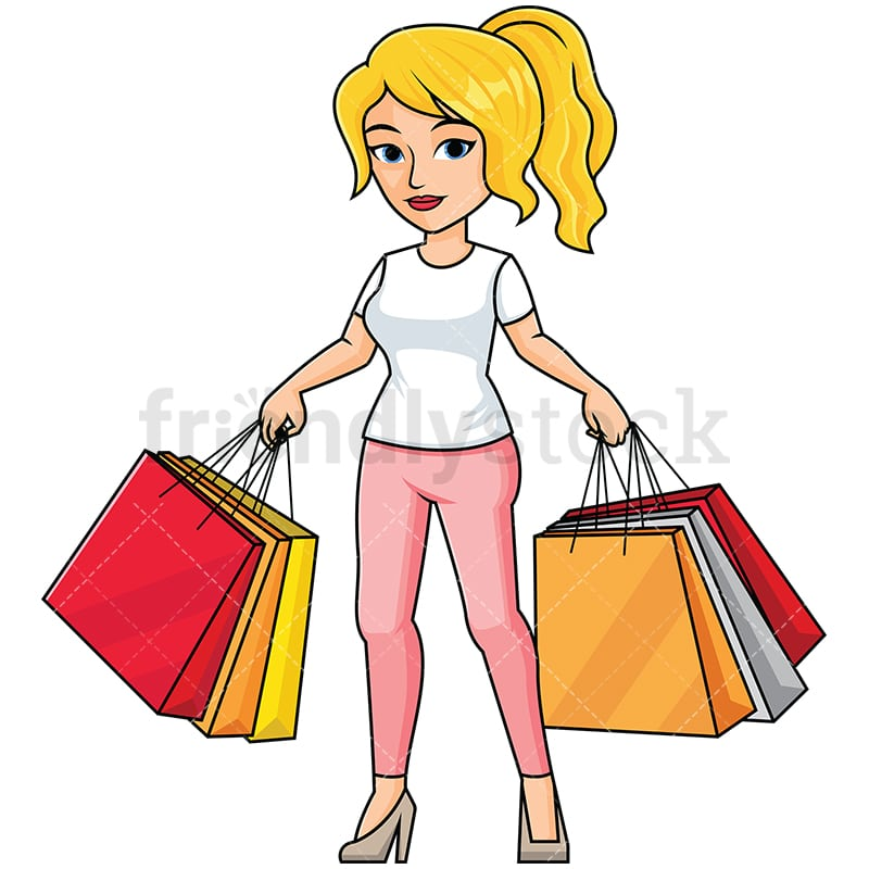 woman holding shopping bags vector cartoon clipart friendlystock woman holding shopping bags vector cartoon clipart friendlystock