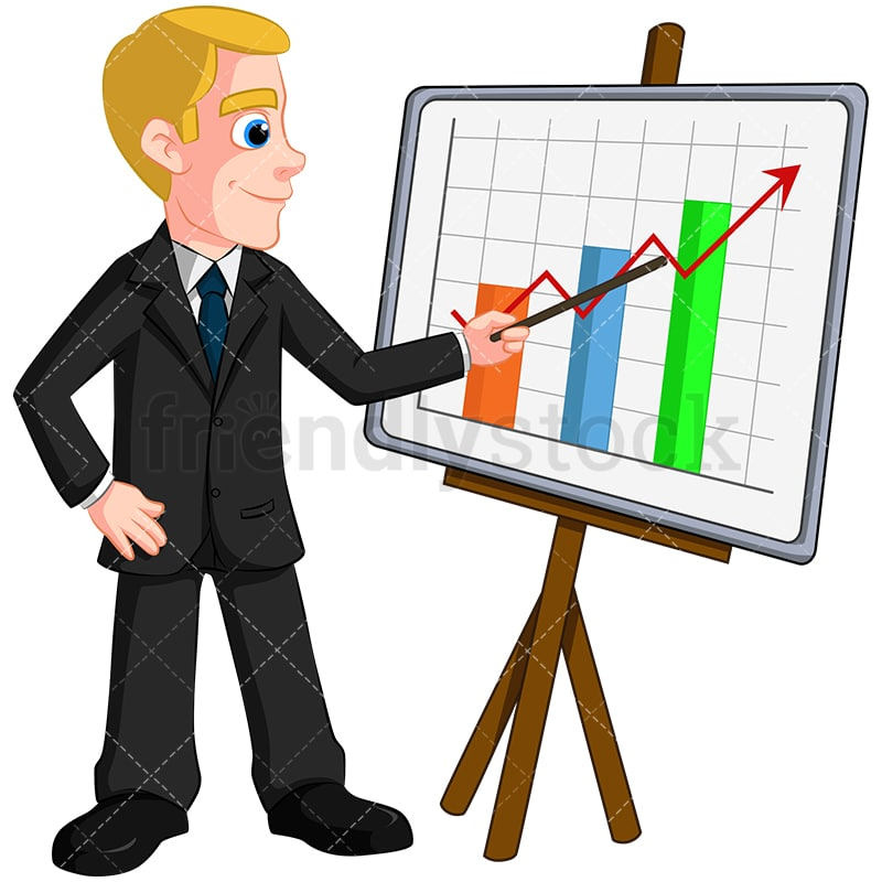 business man giving presentation vector cartoon clipart friendlystock rh friendlystock com