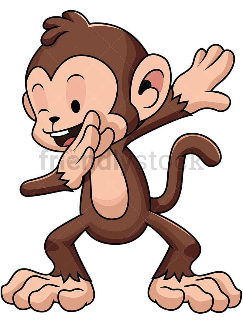 dabbing monkey vector cartoon clipart friendlystock rh friendlystock com clipart monkey in a hat clipart monkey in a hat