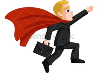 Business man superhero - Image isolated on transparent background. PNG