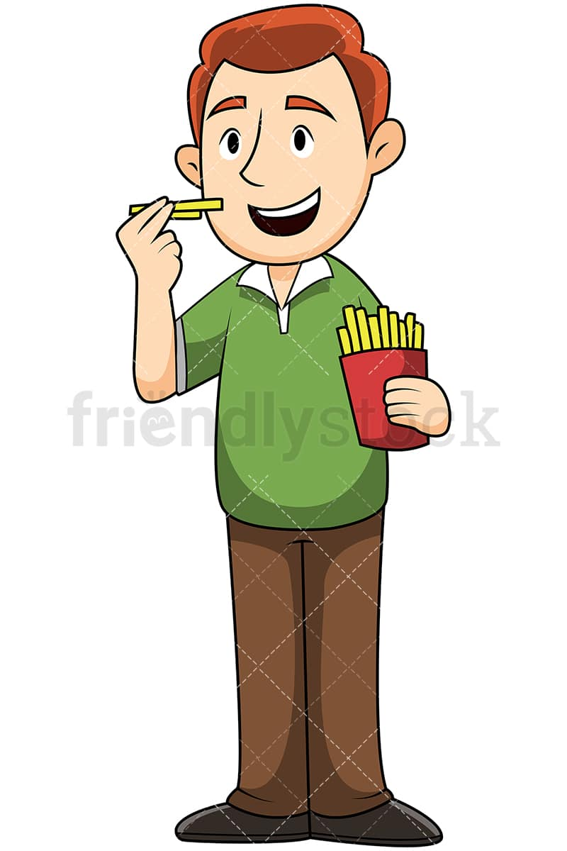 man eating french fries vector cartoon clipart friendlystock rh friendlystock com french map clipart French Artist Clip Art
