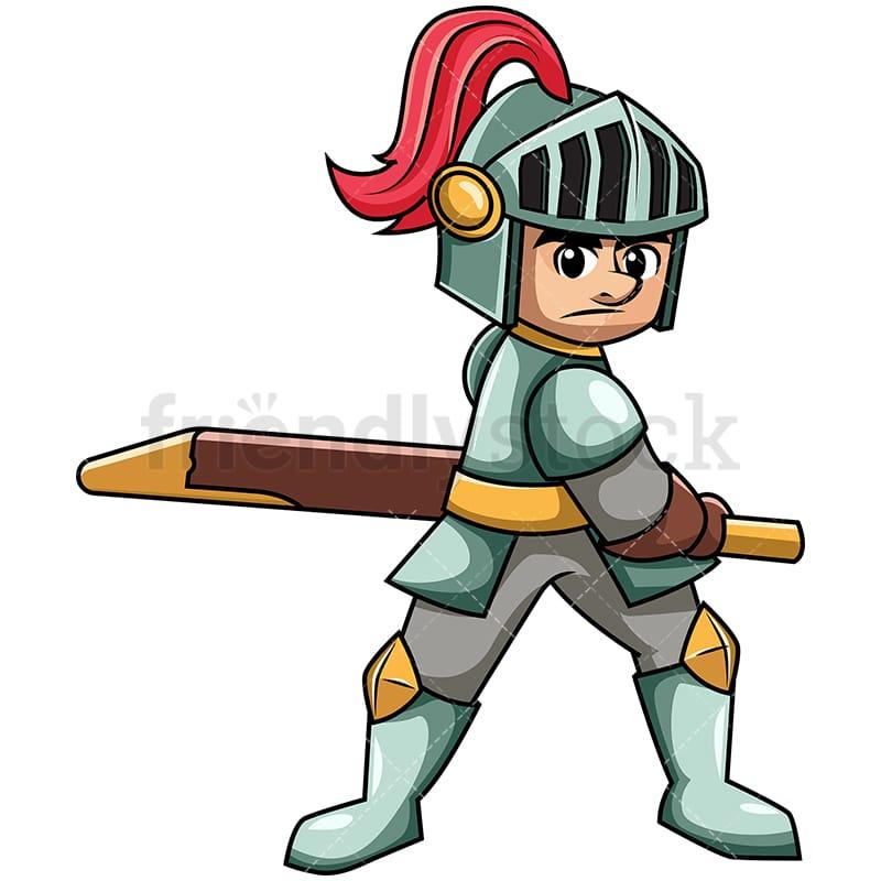 medieval warrior pulling sword cartoon vector clipart friendlystock rh friendlystock com clipart warrior girl warrior clipart black and white