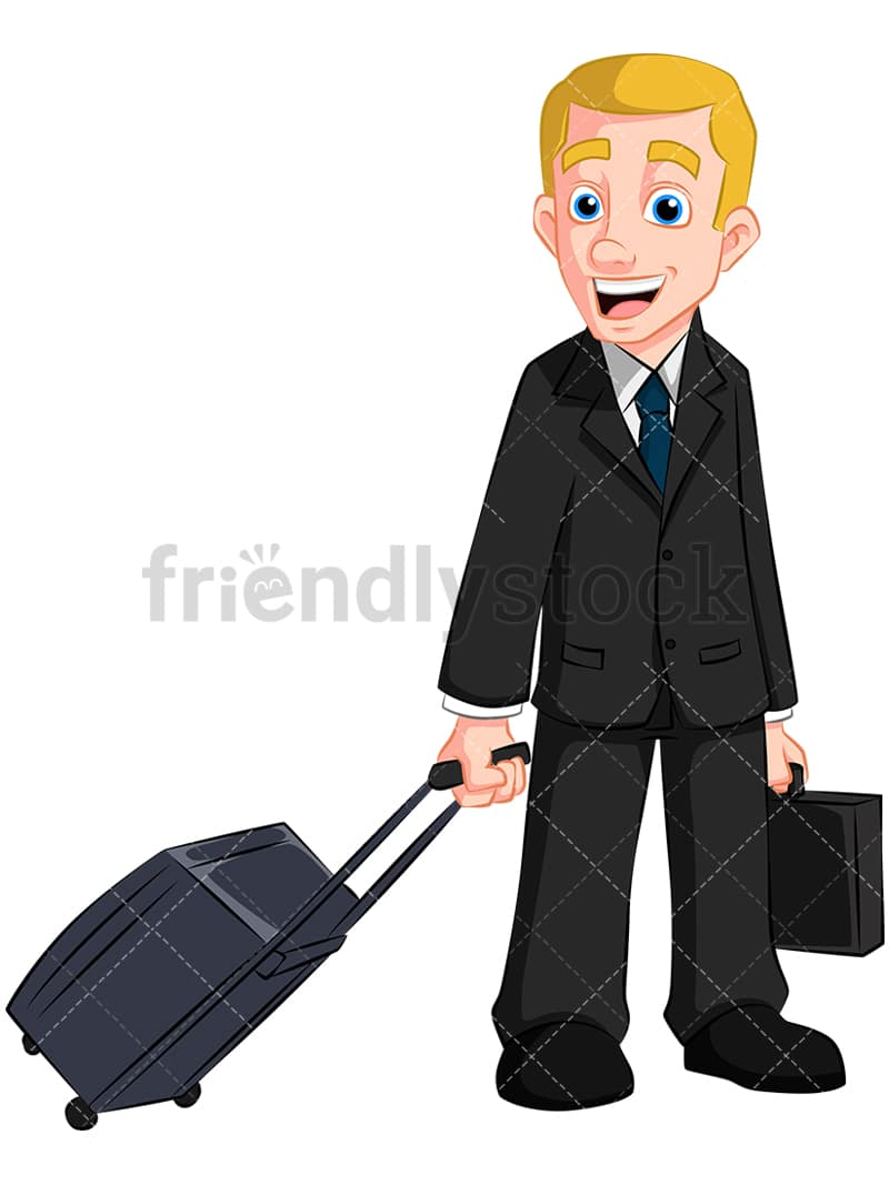 Business Man With Travel Bag