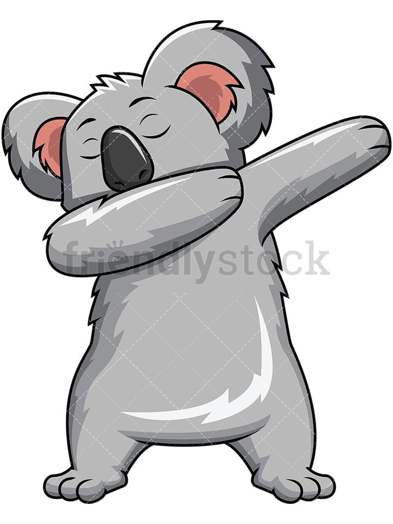 dabbing koala bear vector cartoon clipart friendlystock rh friendlystock com cartoon koala head cartoon koala how to draw
