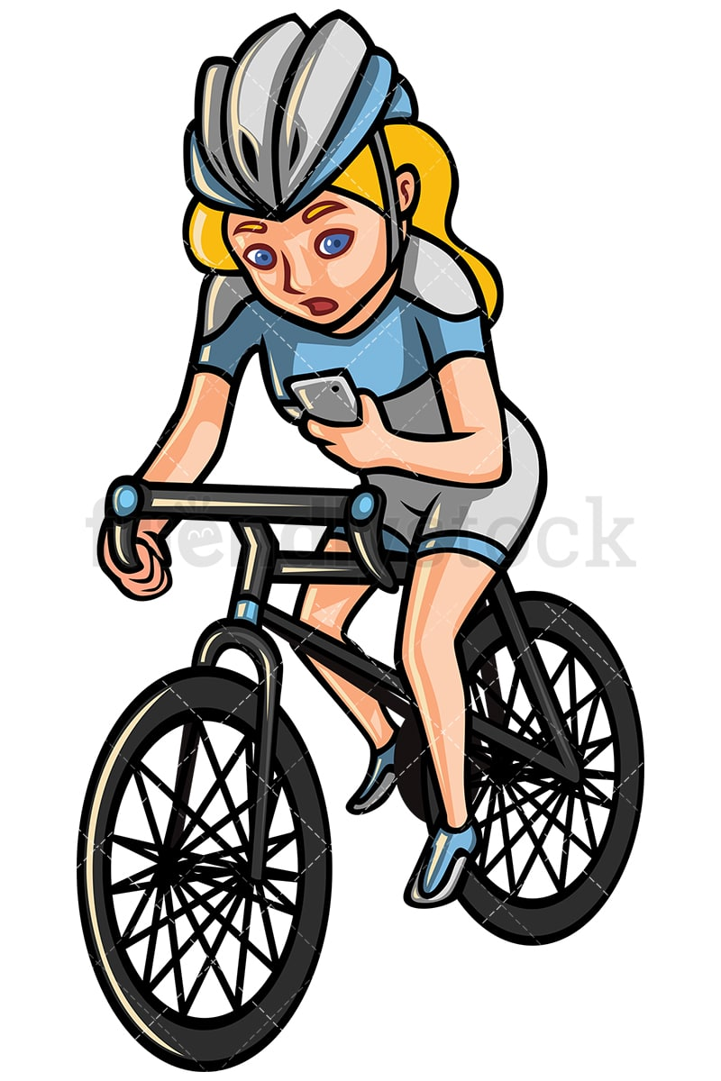 Riding A Bike Clip Art