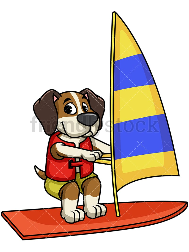Beagle Dog Windsurfing PNG