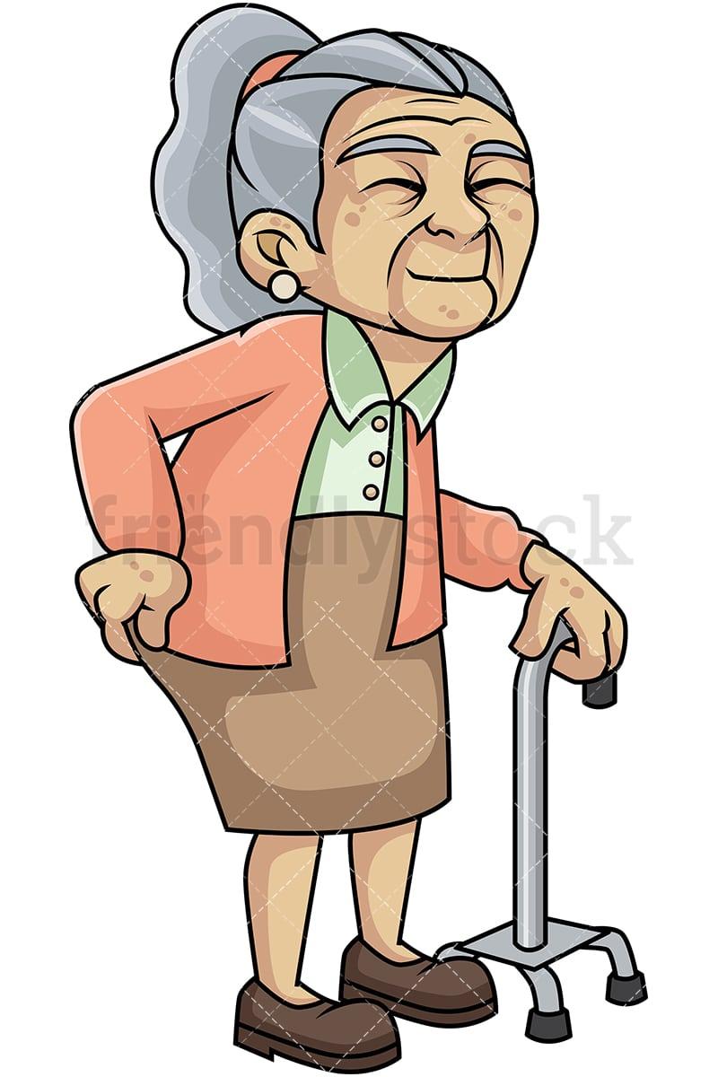 weak old woman with hip pain cartoon vector clipart friendlystock rh friendlystock com funny old woman clipart old woman clip art free