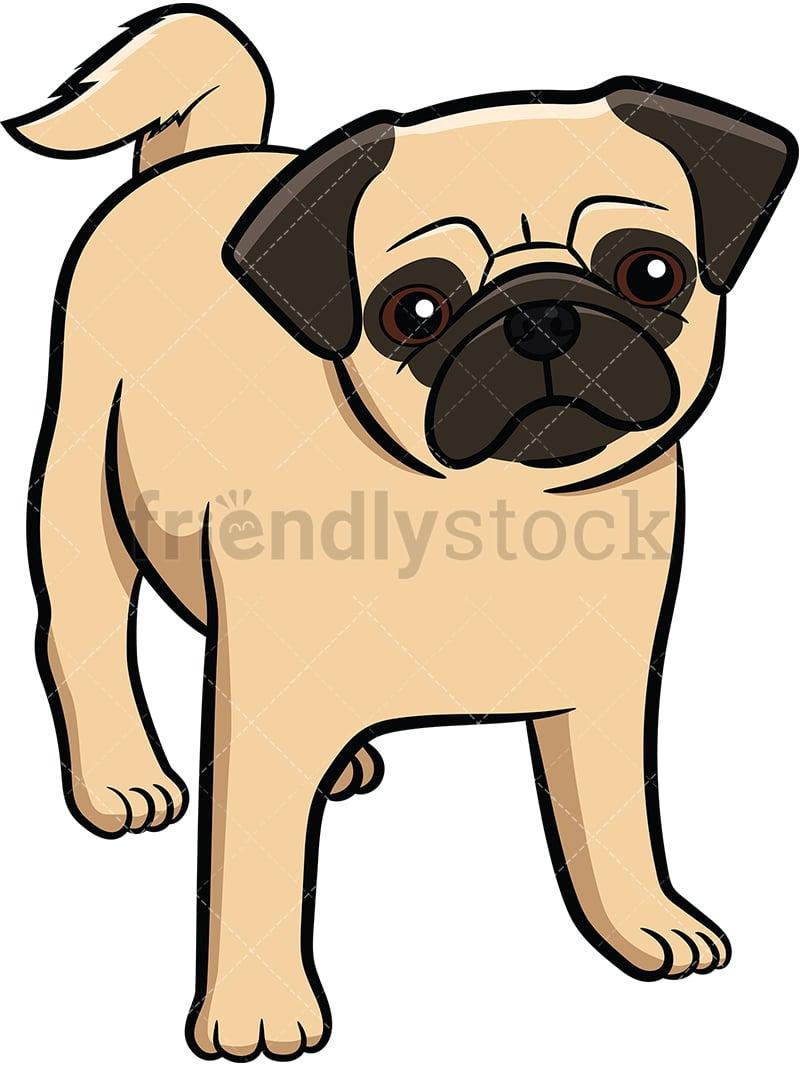 Apricot Pug Dog Puppy Cartoon Vector Clipart Friendlystock