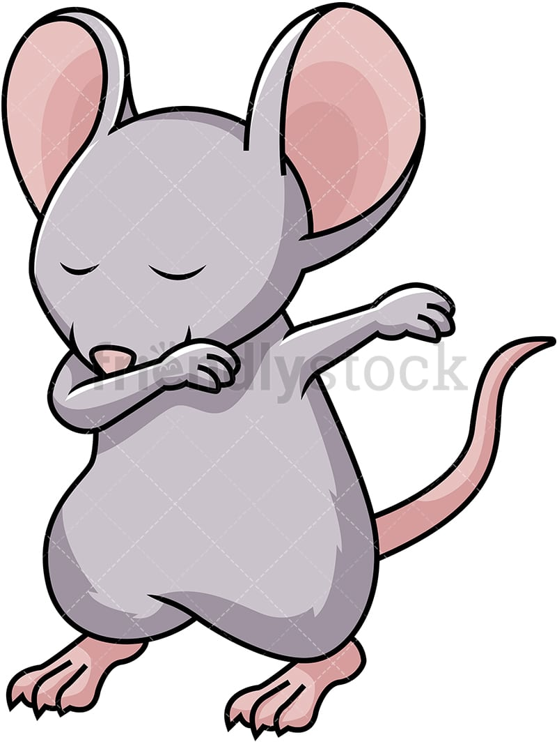Dabbing Mouse Cartoon Vector Clipart Friendlystock