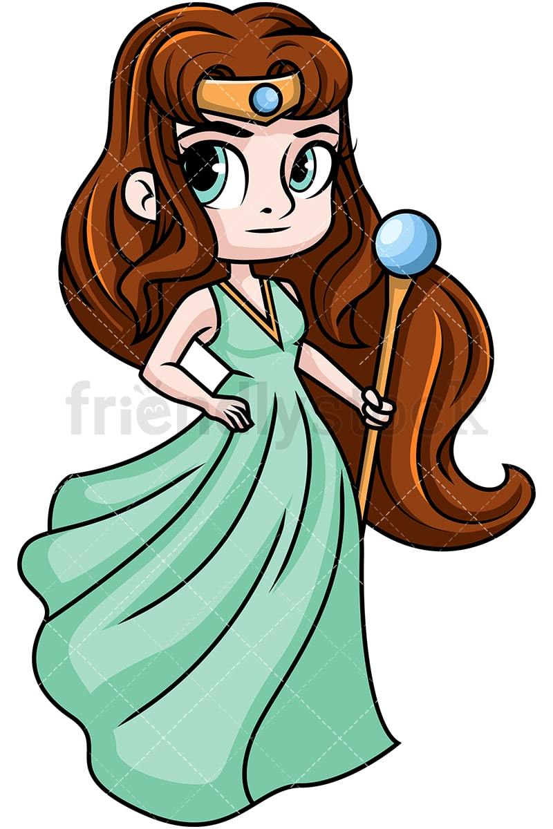 hera queen of the gods cartoon vector clipart friendlystock rh friendlystock com cartoon heroes cartoon heartbeat