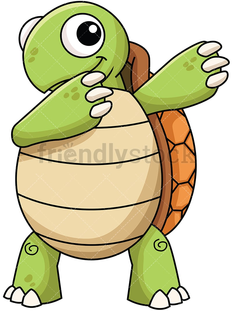 dabbing turtle cartoon vector clipart friendlystock rh friendlystock com turtle clipart freeware black and white turtle clip art outlines