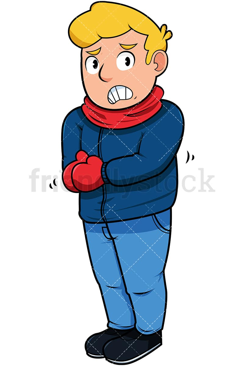 man trembling with cold cartoon vector clipart friendlystock rh friendlystock com cold clipart images cold clipart black and white