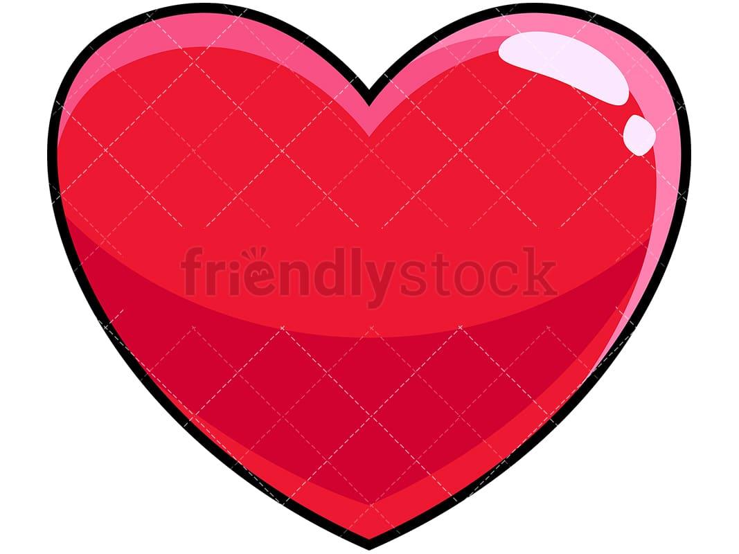 heart icon cartoon vector clipart friendlystock rh friendlystock com heart icon vector png heart icon vector free download