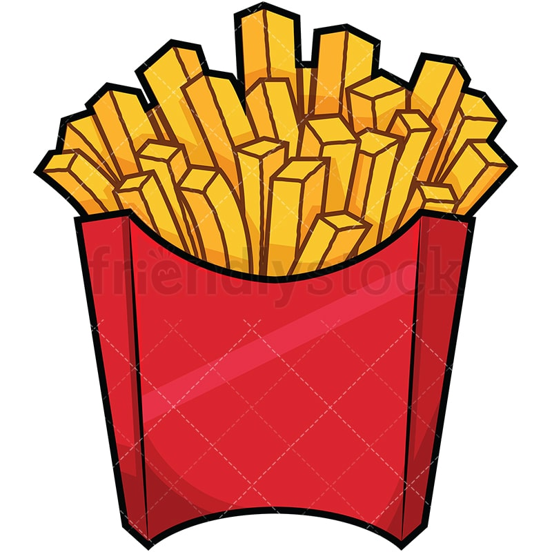 serving of french fries cartoon vector clipart friendlystock rh friendlystock com french fries pictures clip art french fries clip art images