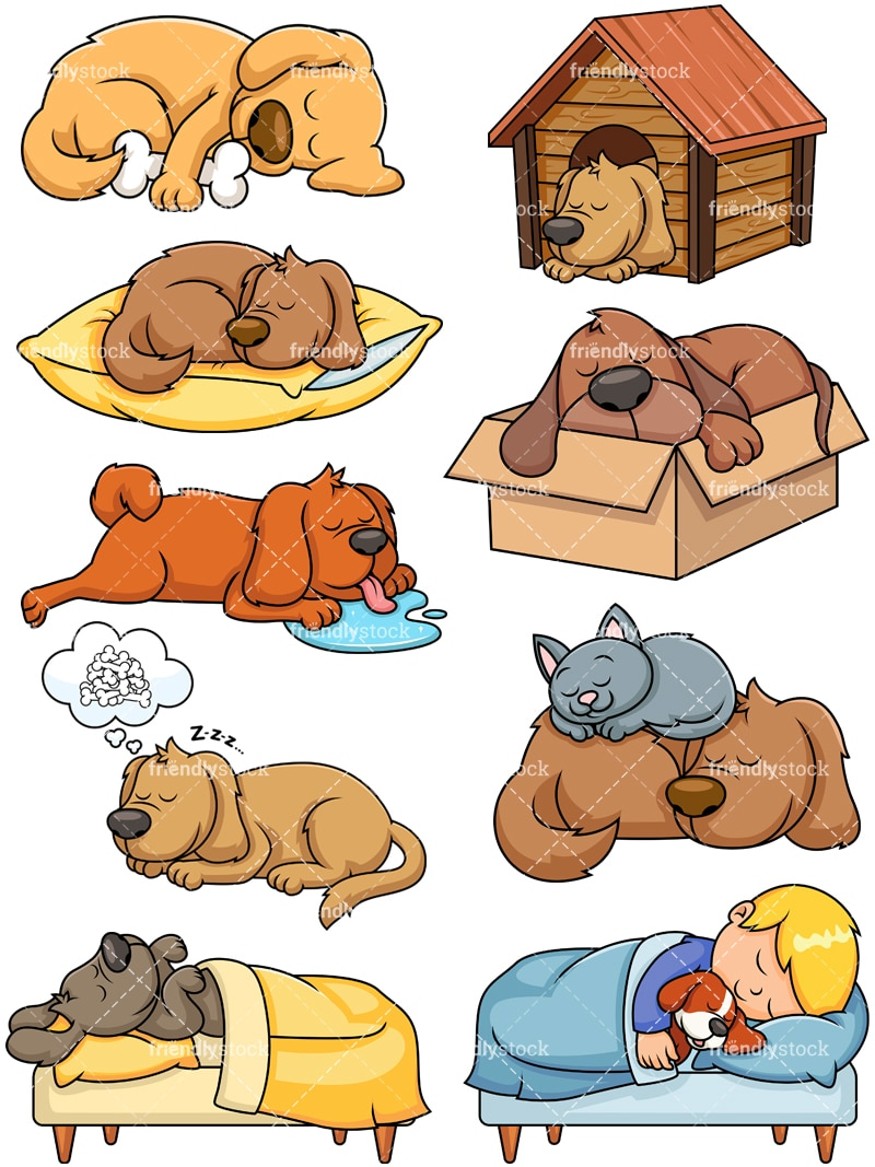 Image of: Names Sleeping Dogs Collection Vector Cartoon Clipart Friendlystock Sleeping Dogs Cartoon Vector Clipart Friendlystock