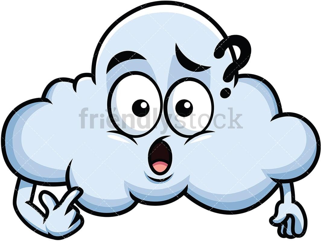 Confused Cloud Emoji