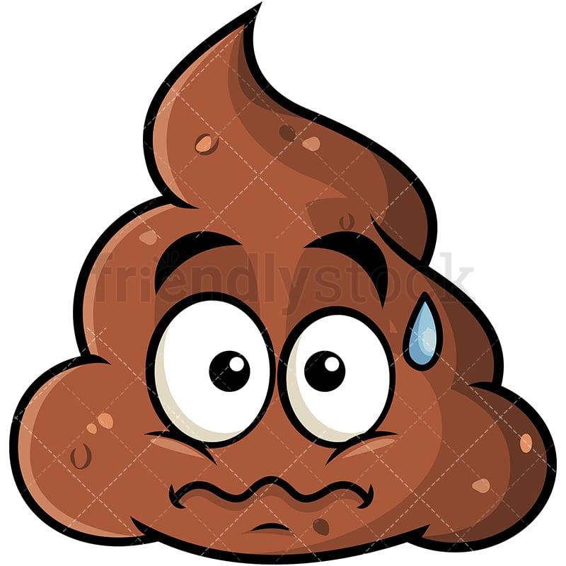 Anxious Poop Emoji