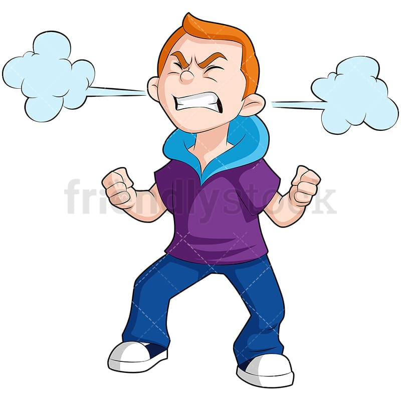 Angry Kid Cartoon Vector Clipart Friendlystock