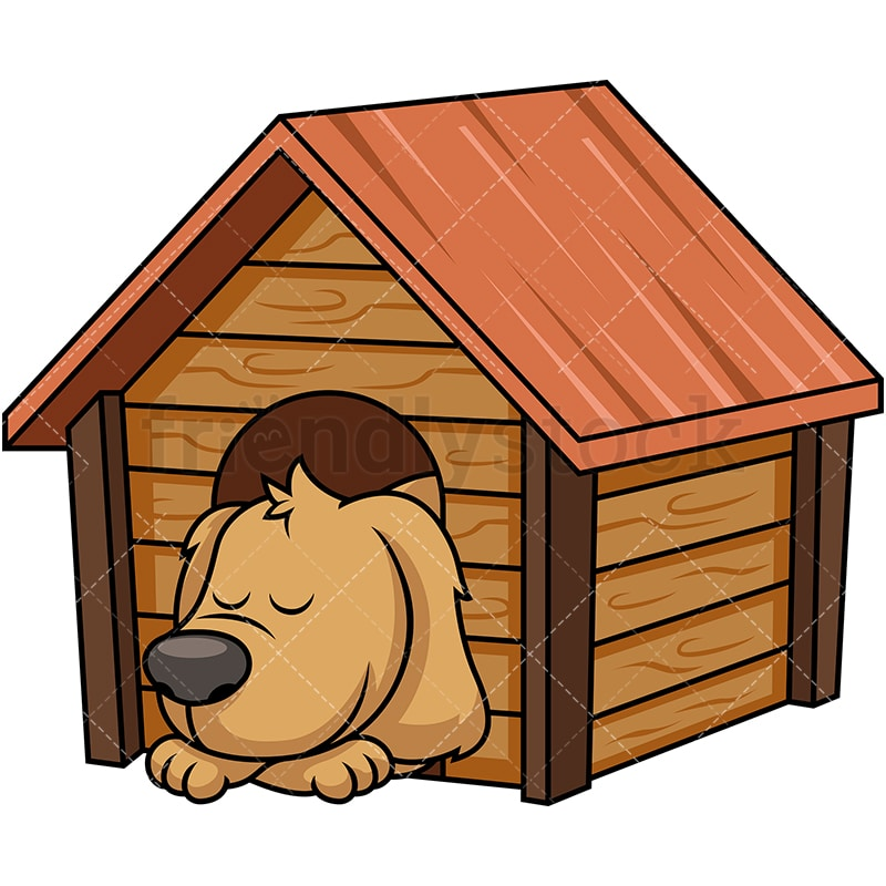 Doggy Sleeping Inside Dog House