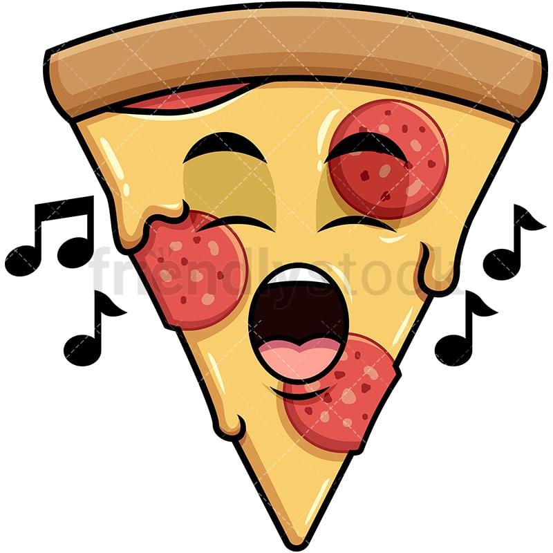 Singing Pizza Emoji