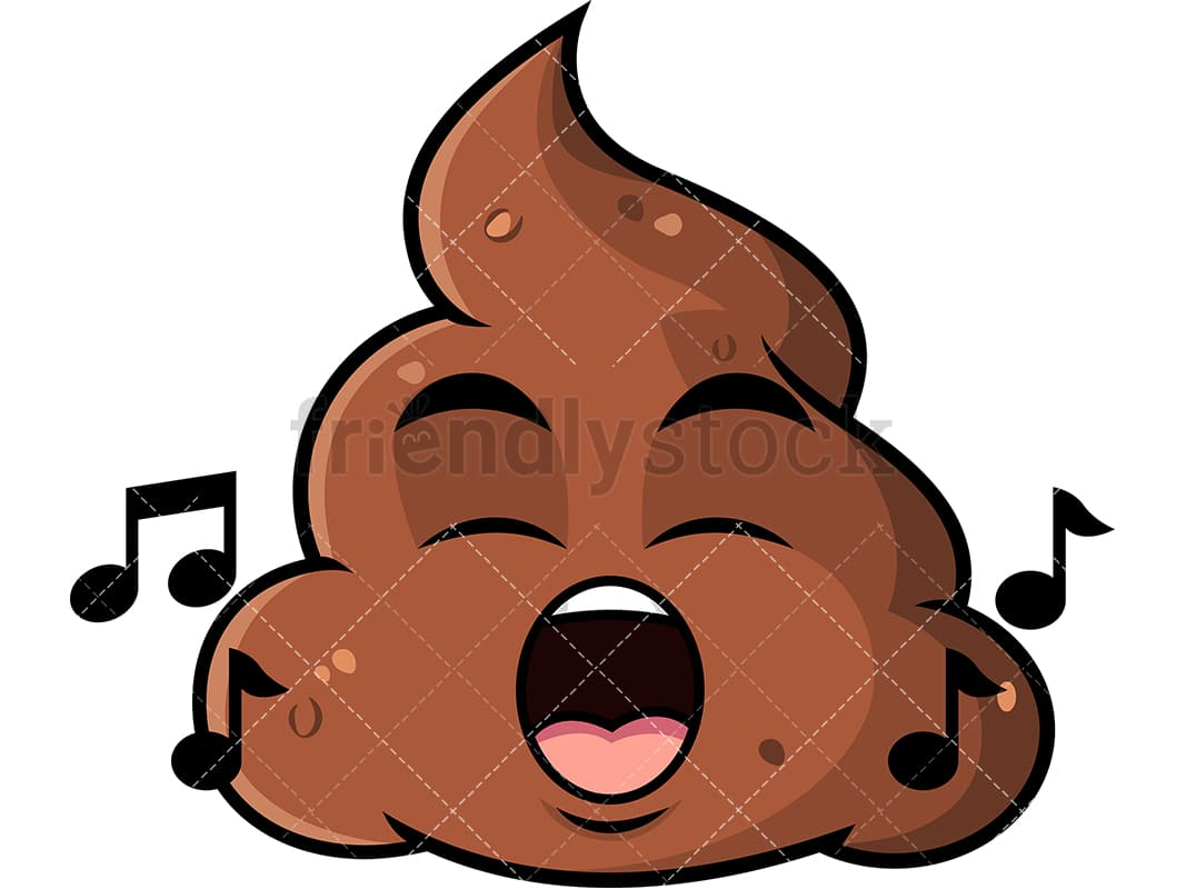 singing poop emoji cartoon vector clipart friendlystock rh friendlystock com clip art poppies clip art popcorn box