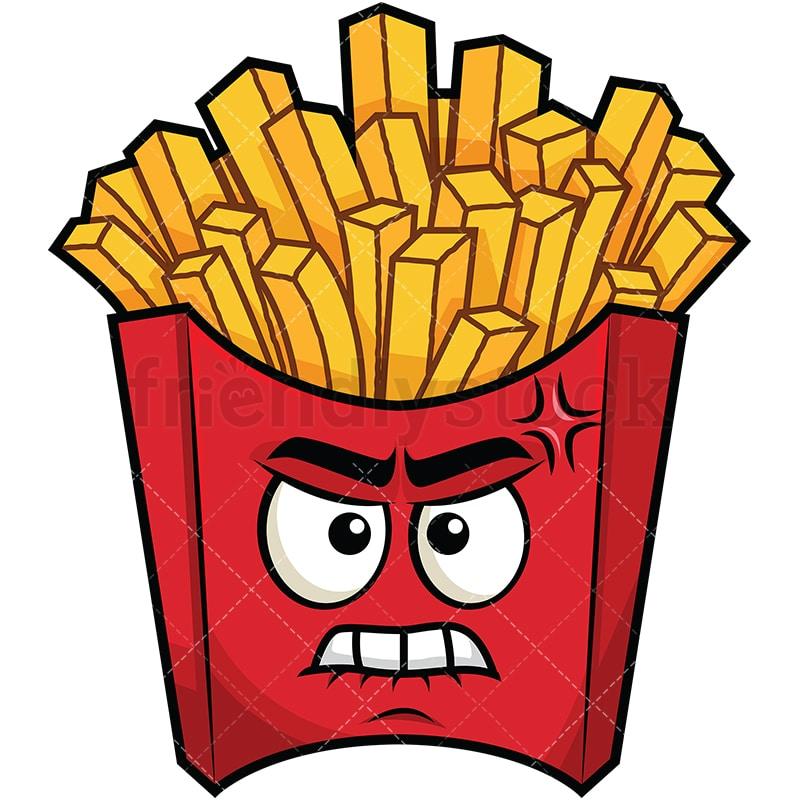 angry french fries emoji cartoon vector clipart friendlystock rh friendlystock com french fries photo clip art french fries clip art images