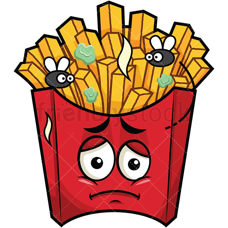 stinky french fries going bad emoji cartoon vector clipart rh friendlystock com french fries clipart black and white french fries pictures clip art