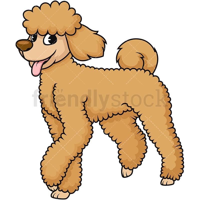 cute brown poodle dog cartoon vector clipart friendlystock rh friendlystock com french poodle dog clipart Poodle Skirt Clip Art