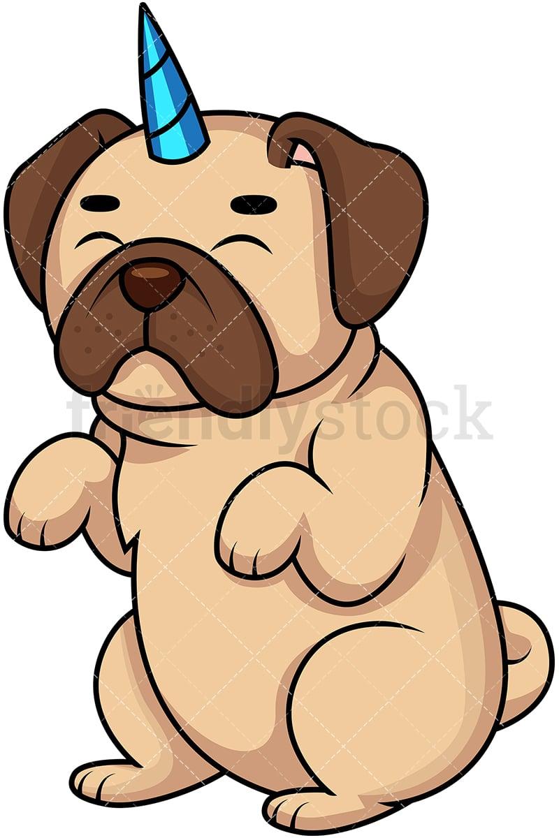 pug dog unicorn pugicorn cartoon vector clipart friendlystock rh friendlystock com Pug Cartoon Clip Art pug dog clip art transparent
