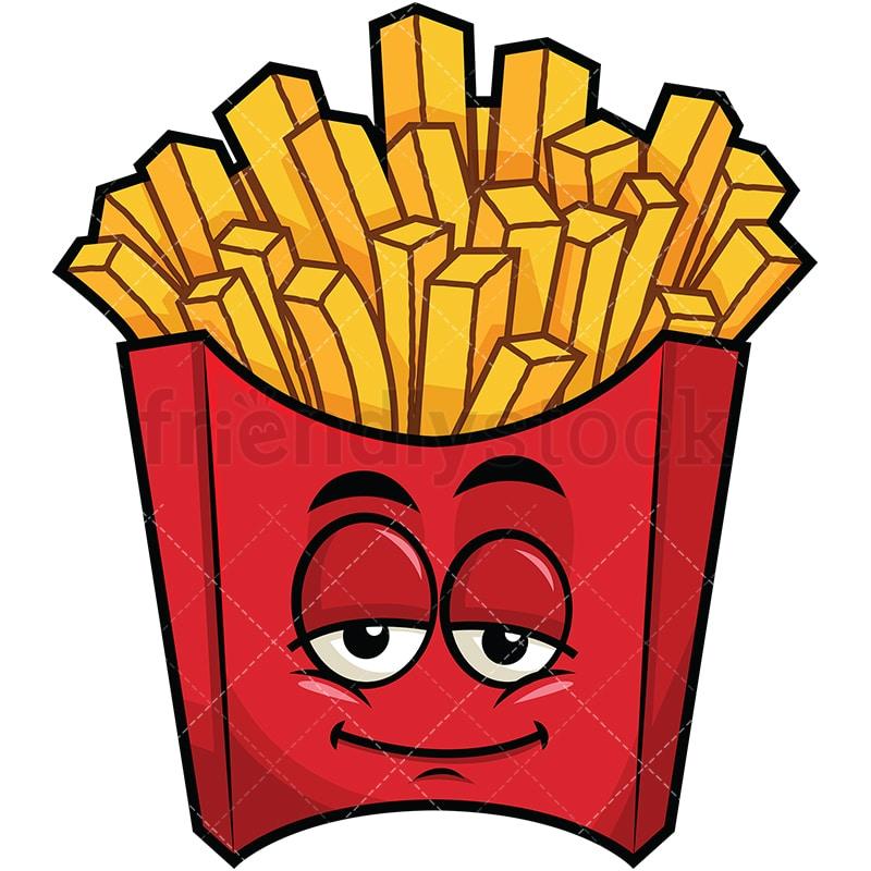 Sleepy French Fries Emoji