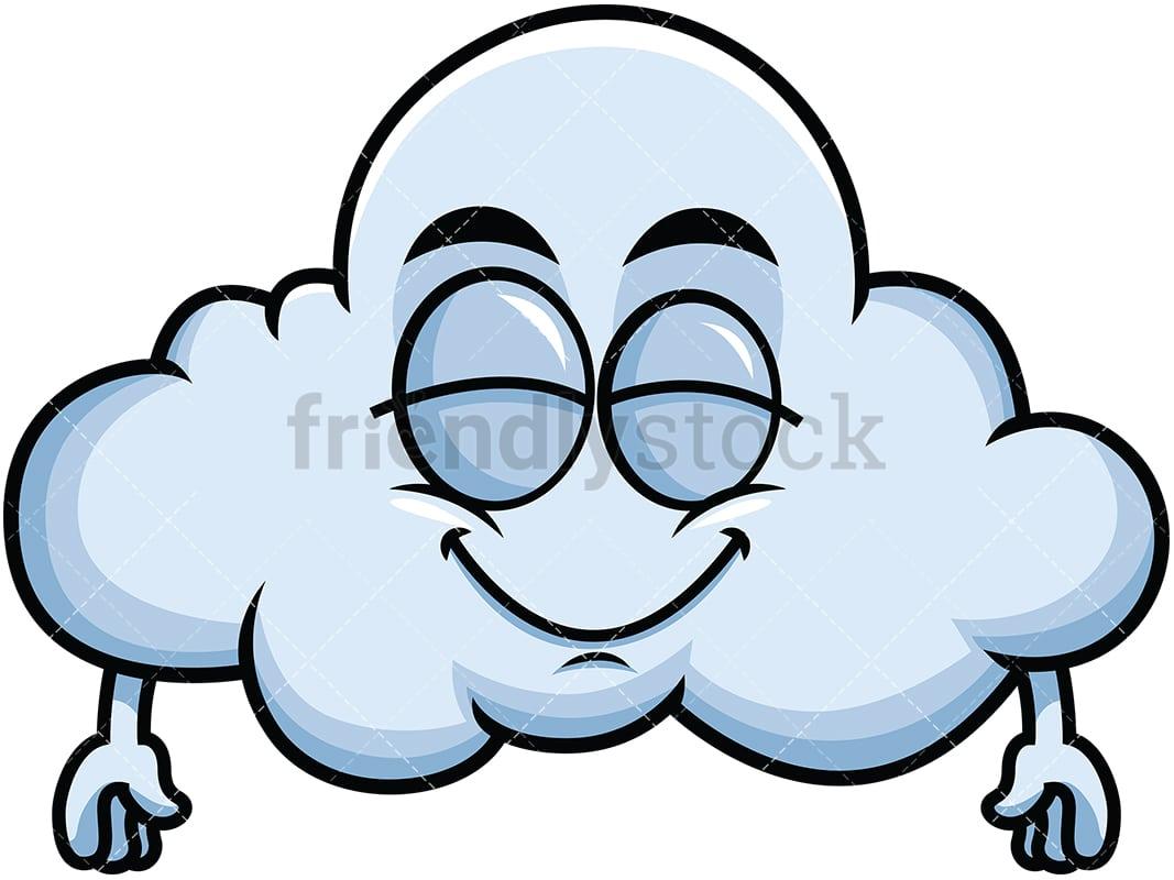 Delighted Cloud Emoji