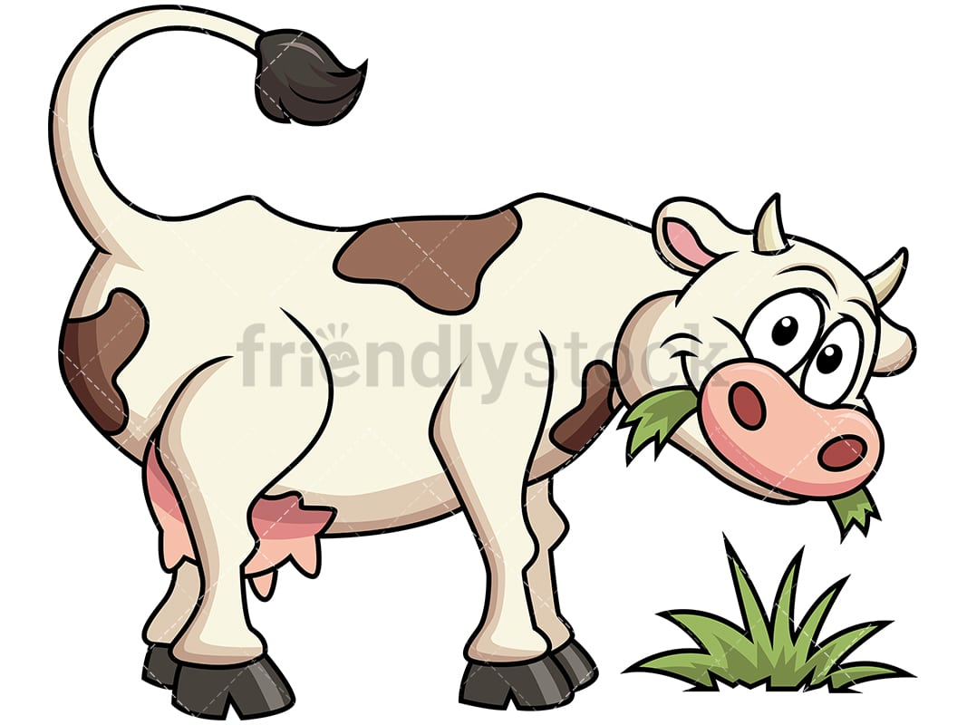 Farm Cow Eating Grass. PNG   JPG And Vector EPS File Formats (infinitely  Scalable