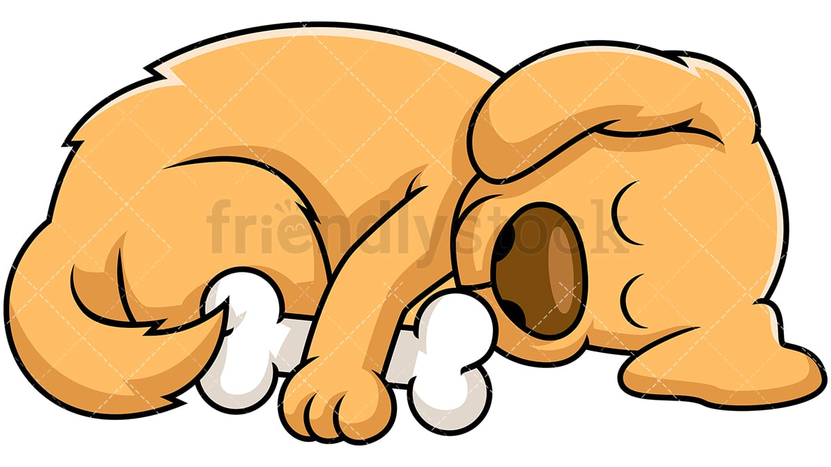 sleeping dog cartoon vector clipart friendlystock rh friendlystock com sleeping dog clipart black and white dog sleeping in bed clipart