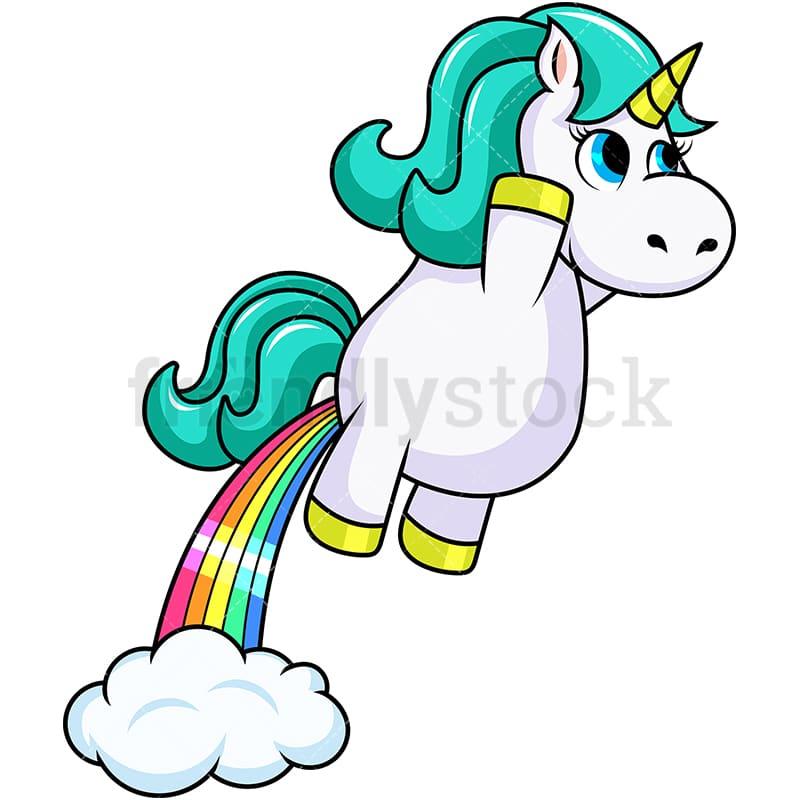 unicorn rainbow fart cartoon vector clipart friendlystock rh friendlystock com fast clip art fort clip art