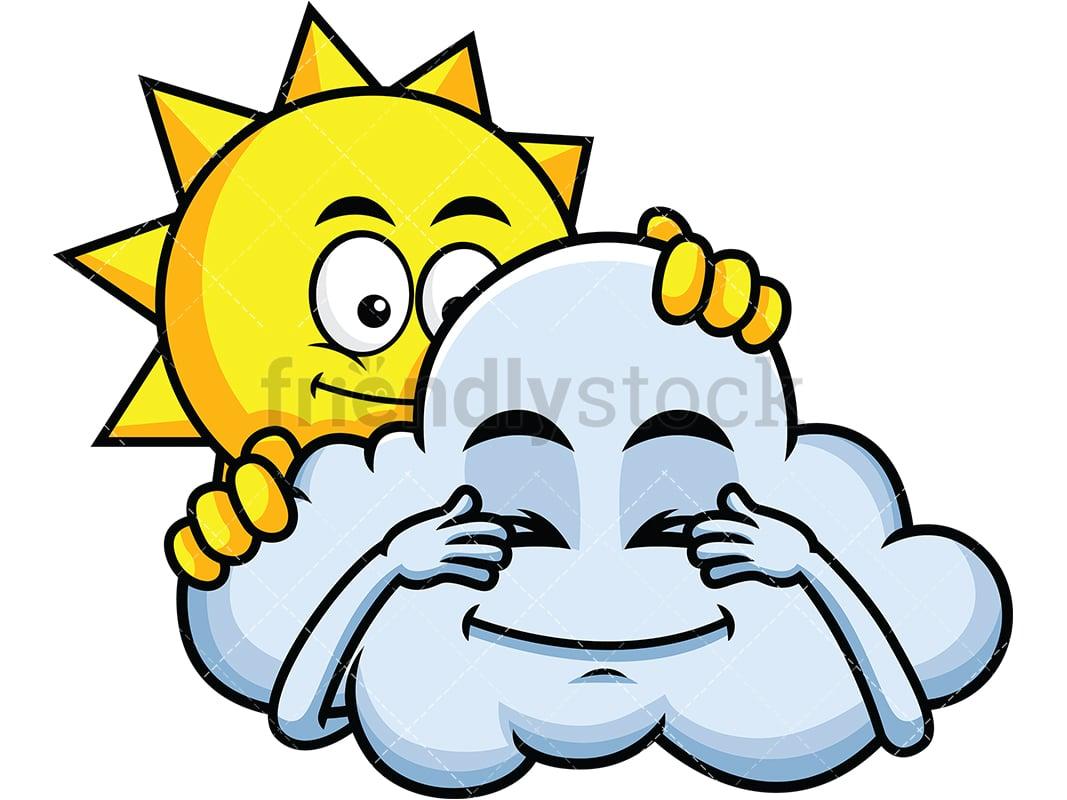 Sun And Cloud Playing Hide And Seek Emoji