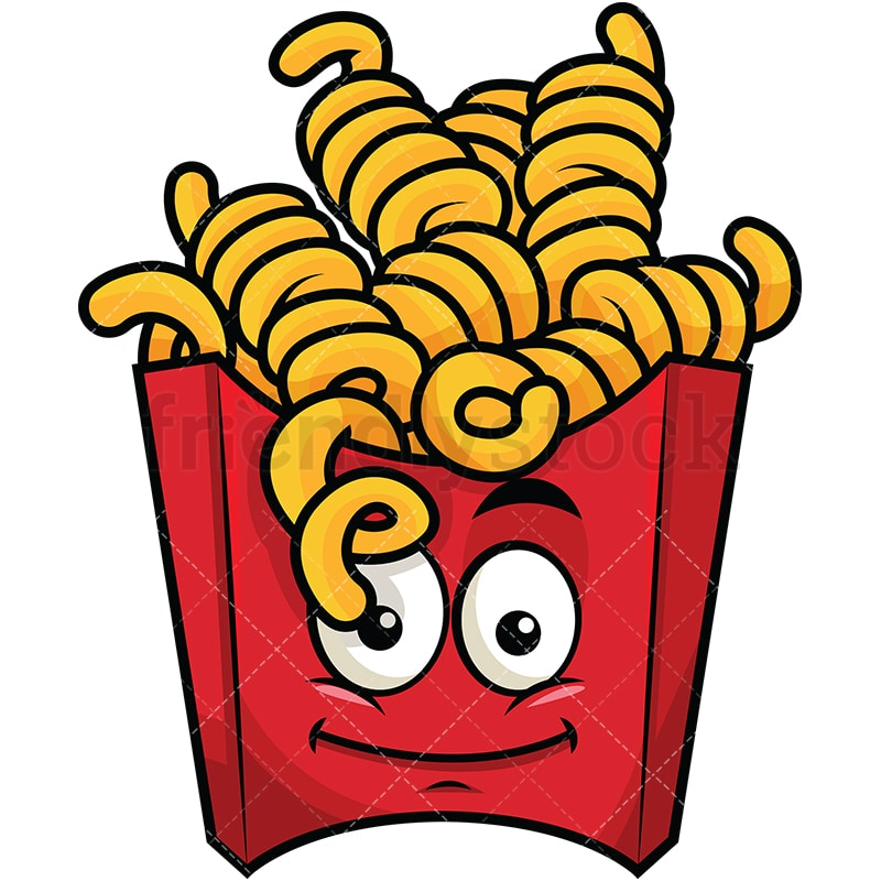 curly french fries emoji cartoon vector clipart friendlystock rh friendlystock com french fries clip art free french fry clip art free