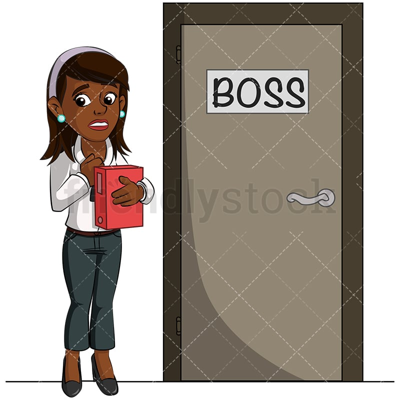 A Black Businesswoman Adjusting Her Scarf Waiting For Her Boss