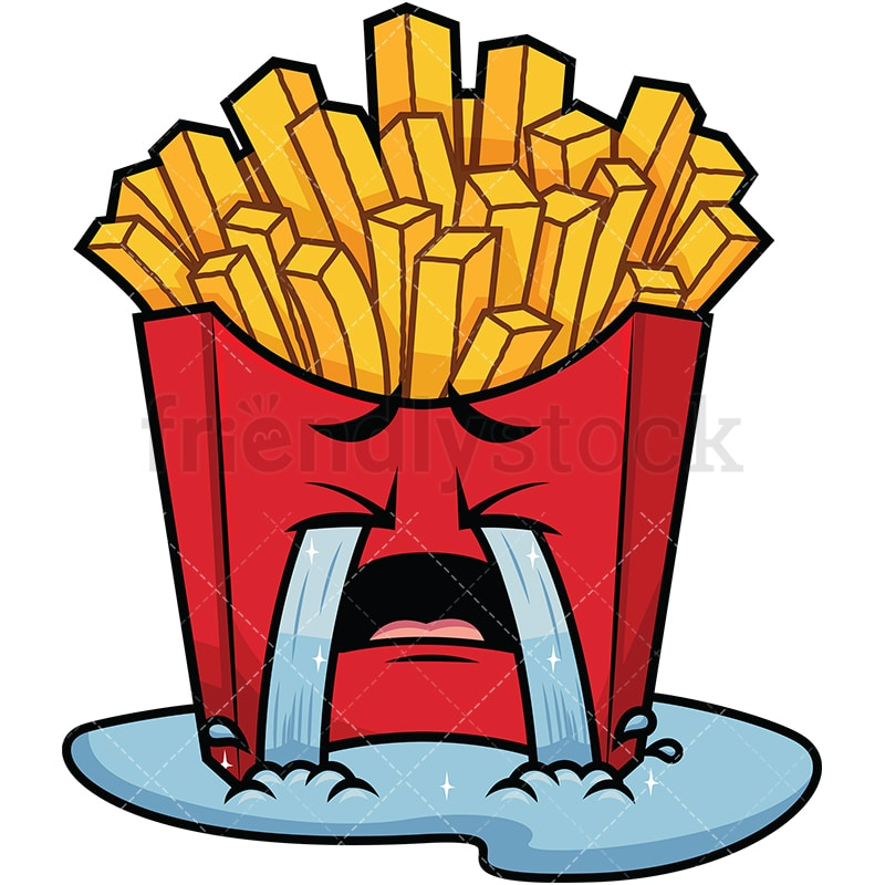 crying out loud french fries emoji cartoon vector clipart rh friendlystock com french fries clip art svg french fries clipart png