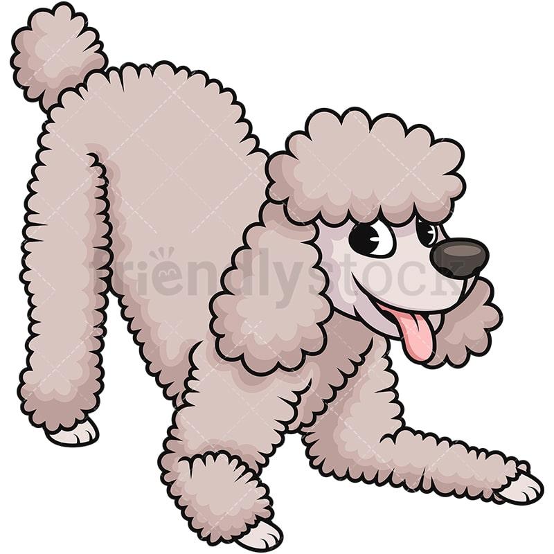 happy cream poodle dog cartoon vector clipart friendlystock rh friendlystock com Poodle Skirt Clip Art Poodle Profile Clip Art