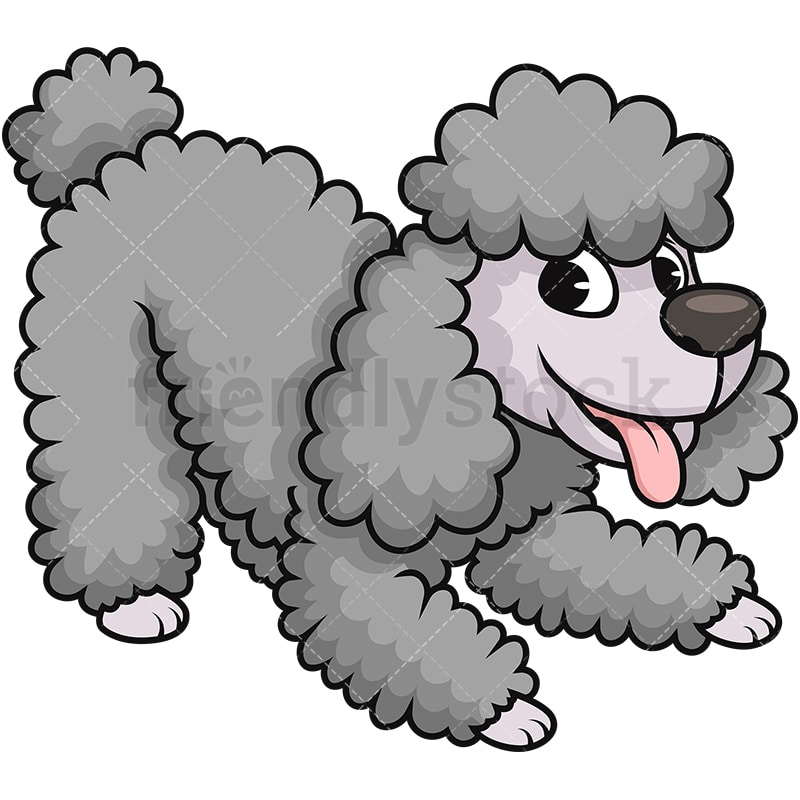 happy miniature poodle dog cartoon vector clipart friendlystock rh friendlystock com Toy Poodle Clip Art 50 S Pink Poodle Clip Art