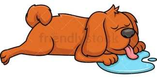 Dog sleeping and drooling. PNG - JPG and vector EPS file formats (infinitely scalable). Image isolated on transparent background.