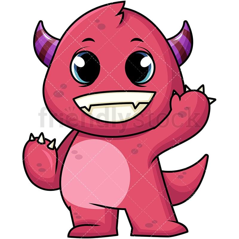 Friendly Monster Cartoon Vector Clipart Friendlystock