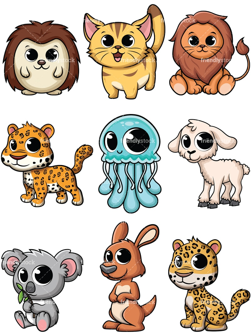 Cute Baby Animal Cartoon Pictures Baby Viewer