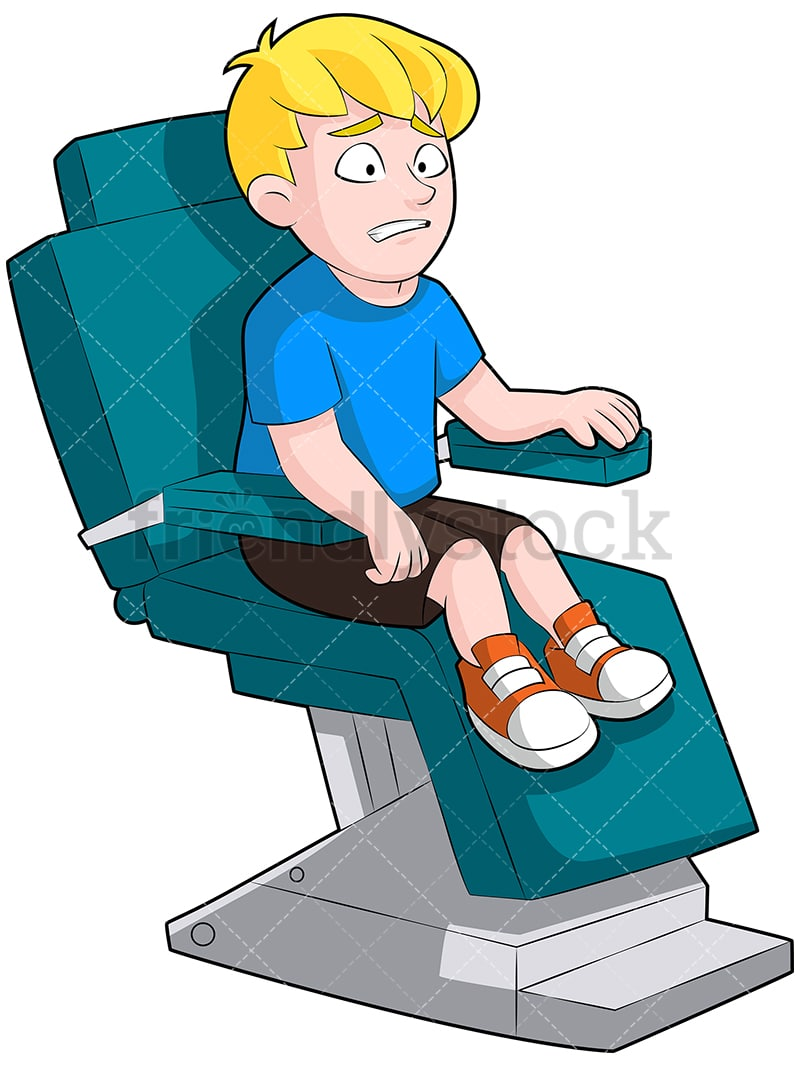 Swell A Grimacing Little Boy Squirming In A Dentist Chair Looking Terrified Gmtry Best Dining Table And Chair Ideas Images Gmtryco