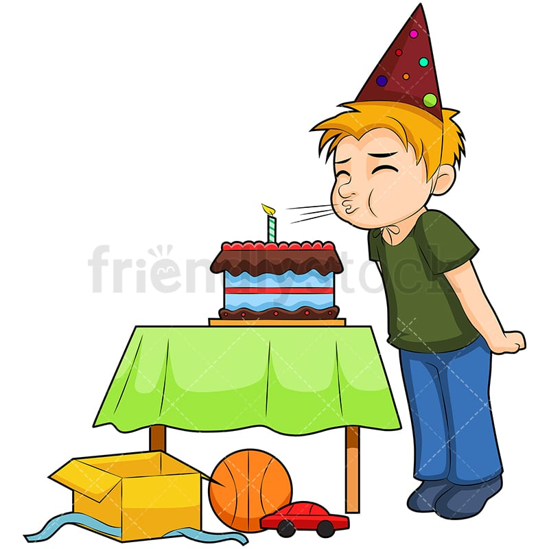 Birthday Boy Cartoon Vector Clipart Friendlystock